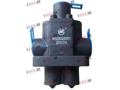 Клапан управления КПП (2 штока+3 отв. под трубки) H3 HOWO (ХОВО) WG2203250001 фото 1 Иркутск