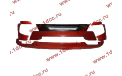 Бампер A7 красный в сборе самосвал с широкой губой
